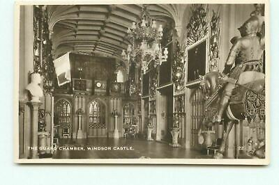 £1.99 • Buy The Guard Chamber Windsor Castle 22 RP Real Photo Postcard Unposted DO