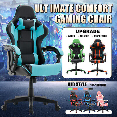 AU149.90 • Buy Executive Office Chair Gaming Computer Seat Upgraded Racer Recliner PU Leather