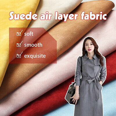 £10.99 • Buy Thick Suede Air Layer Fabric Stretch Faux Suede Fleece Material Cloth 150*50cm