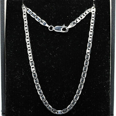 £26 • Buy 9ct White Gold Fancy Link Chain Necklace 18'' 3mm