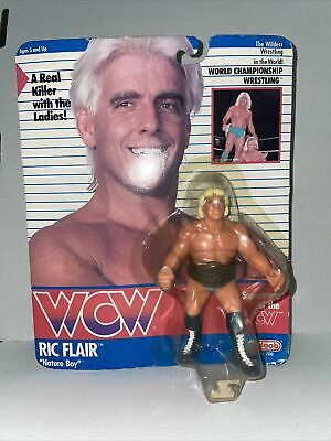£40 • Buy WCW Galoob Ric Flair MOC Blue Trunks With Championship Belt