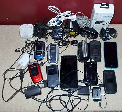 $ CDN23.47 • Buy Lot Of 10 UNTESTED Cell Phones Sony Samsung LG + Extras AS-IS !