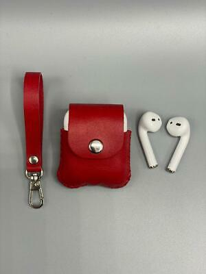 $ CDN26.15 • Buy Luxury For AirPods Case Genuine Leather Red Protective Cover Skin New AirPod 2 1