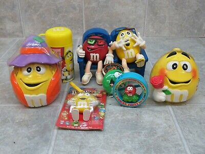 $50 • Buy M&M's Candy Dispenser, Character Jars, And More - RARE!!!