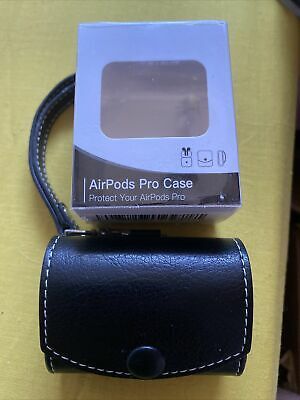 $ CDN8.59 • Buy Leather Airpods Pro Case And Clip, Black