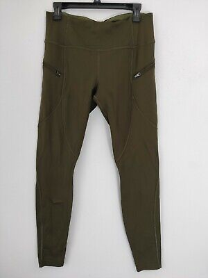 $ CDN87.15 • Buy Lululemon Sz 12 First Mile Tech Tight Military Green Cold Weather Pants RARE