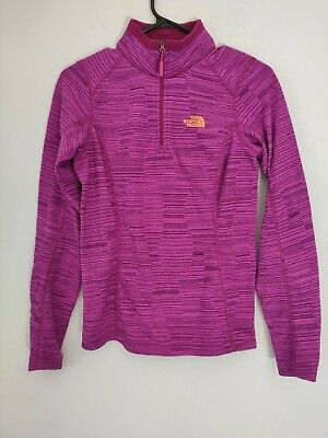 £14.32 • Buy North Face Size XS 1/2 Zip Fleece Base Layer Pink