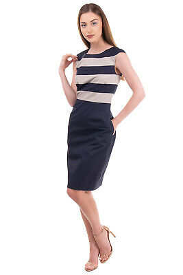 AU20.23 • Buy PME PESERICO Skirt Dress Size 46 / L Two Tone Striped Crew Neck  Made In Italy