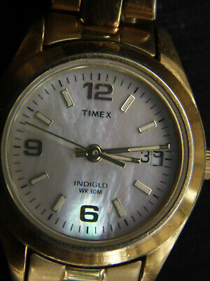 $9.95 • Buy Vintage Timex Indiglo Watch 30m With Pearl Dial. Has New Battery & Runs Great.