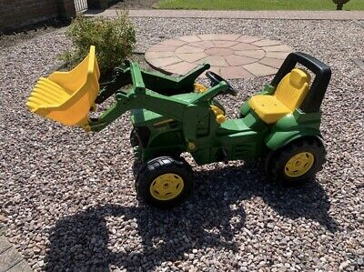 £65 • Buy John Deere Ride On Pedal Tractor + Front Loader - Green - Good Condition