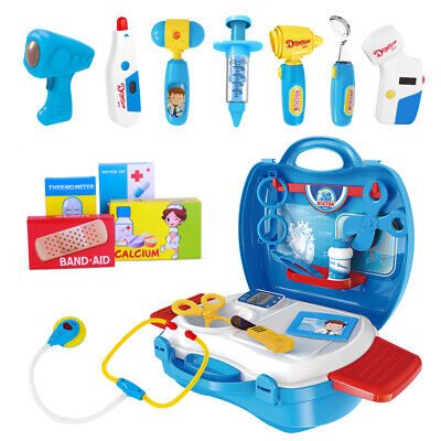 £11.78 • Buy IBaseToy 27PCS Gift Kids Doctor Toys Medical Set Role Play Kit Hard Carry Bags