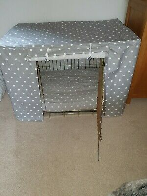 £40 • Buy Lords And Labradors Grey Spot Oil Cloth Crate Cover Large