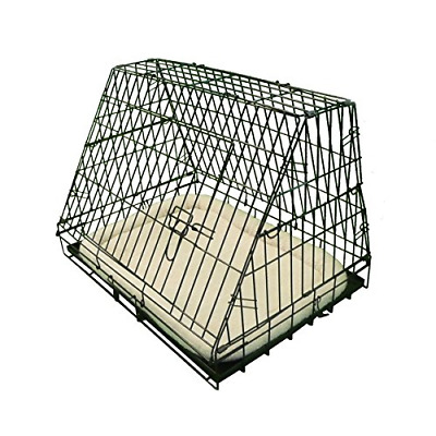 £44.95 • Buy Ellie-Bo Deluxe Sloping Puppy Cage Medium 30 Inch Black Folding Dog Crate With