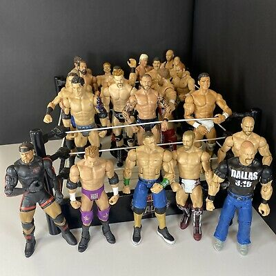 £25 • Buy WWE ~ TOUGH TALKERS Ring With Working Sounds - Mattel Figure Bundle