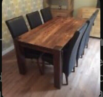 £200 • Buy Mango/ Sheesham  Indian Wood Solid Dining Table And Chairs