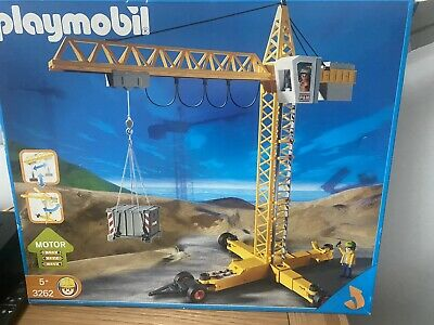 £19.99 • Buy Playmobil 3262 Construction Crane Vintage Set Boxed Working But SPARES OR REPAIR