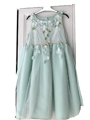 £9.99 • Buy Monsoon Occassion Wedding Party Dress Flower Girl Age 10 Yrs