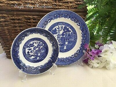 $18.99 • Buy Antique Blue Willow 2 Pieces, Made In Holland, Petrus Regout, Maastricht