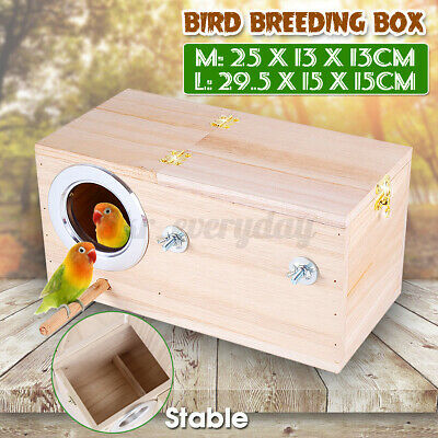 £9.95 • Buy Wooden Bird Breeding Box Cage For Parrot Budgie Nesting House Love Birds Finch