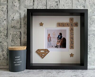 £25 • Buy (b) Scrabble Picture Photo Frame Super Teacher/Hero End Of Year Thank You Gift