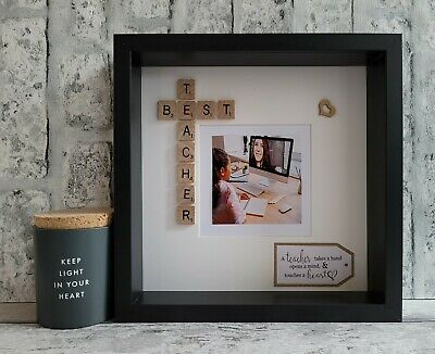 £25 • Buy (a) Scrabble Picture Photo Frame Best Teacher/Hero End Of Year Thank You Gift