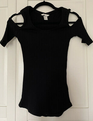 £4 • Buy H&M Cut Out Sleeve Top In Small