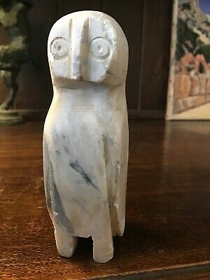£50 • Buy A Small Primitive Owl In Carved Marble. Americas. Pre-Columbian. Inuit? Other?