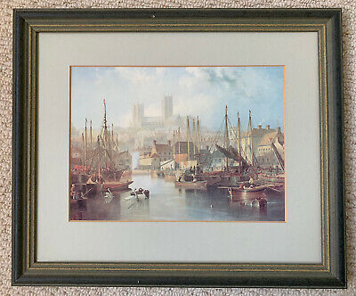 £9.99 • Buy J.W. Carmichael Print - Brayford Pool And Lincoln Cathedral 1858 (Print 1997)