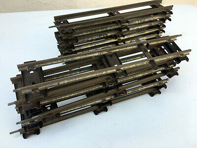 £9.50 • Buy Hornby O Gauge 12 Sections Of Straight Track - Good Unboxed