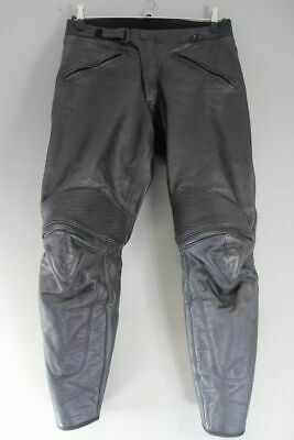 £59 • Buy Dainese Black Leather Biker Trousers: Waist 34 Inches/inside Leg 30 Inches