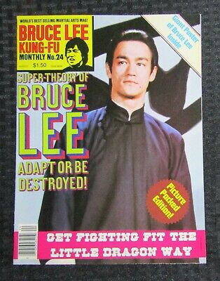 £14.67 • Buy 1970's KUNG-FU MONTHLY Poster Magazine #24 FVF 7.0 Bruce Lee Super-Theory
