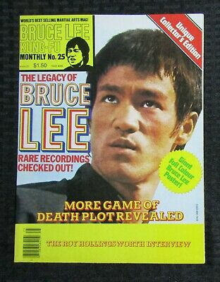 £14.67 • Buy 1970's KUNG-FU MONTHLY Poster Magazine #25 FVF 7.0 Bruce Lee The Legacy Of