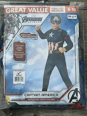 $19.99 • Buy  Size M 8/10 Marvel Avengers Captain America Child Costume Muscle Chest Rubies