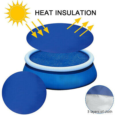 £12.79 • Buy Solar Pool Cover Sheet For Fast Set Inflatable 8ft 10ft Paddling Swimming Pool
