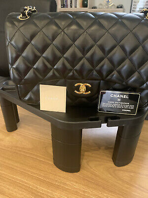 £3300 • Buy Chanel Classic Double Flap Black Lambskin With Dust Bag And Auth Card