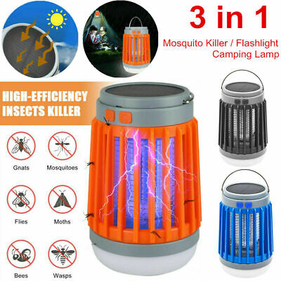 £14.99 • Buy Solar USB Mosquito Killer Light Electronic Fly Bug Insect Zapper Trap Pest Lamp