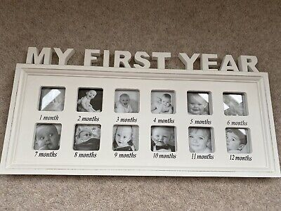 £9.99 • Buy MY FIRST YEAR Baby Photo Frame 12 Months Picture Keepsake