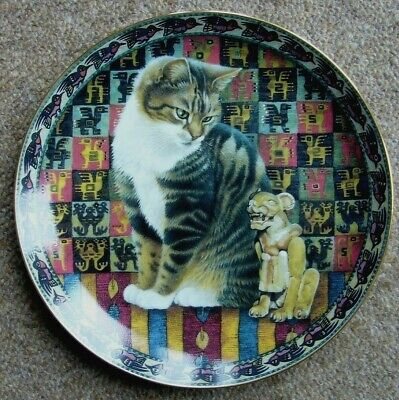 £9 • Buy Lesley Anne Ivory Cat Plate - Cats Around The World - Malteazer In Peru (Tabby)