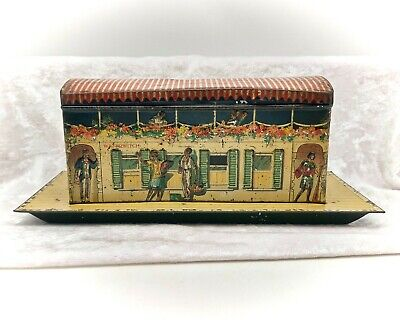 £239.99 • Buy Waterwitch Houseboat-Figural Vintage/Antique Biscuit Tin/Toy-Jacob & Co-1923