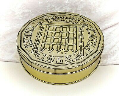 £11.99 • Buy Coin Shaped Embossed Novelty Collectable Sweet Tin-Gold Colour-Vintage C.1990s