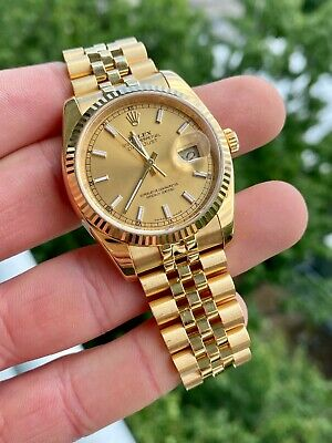 $ CDN30211.13 • Buy 2013 Rolex Datejust 36mm Model 116238 Yellow Gold W/ Box & Papers