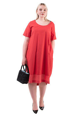 AU20.23 • Buy EUROPEAN CULTURE Cocoon Dress Size 4XL Short Sleeve Scoop Neck Made In Italy