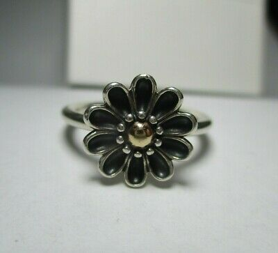 AU90 • Buy Pandora Ring - Gerbera Flower Silver And 14k Gold Two Tone Ring - Size 54 190902