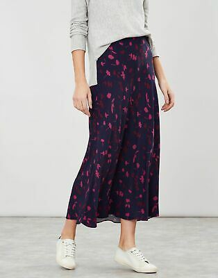 £20.95 • Buy Joules Womens Coletta Bias Cut Skirt - Navy Berry Floral - 14