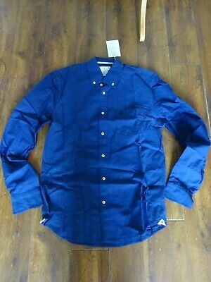 £8.50 • Buy Mens Shirt Cortefiel Navy Blue Tailored Fit Shirt Long Sleeve BNWT Size Large