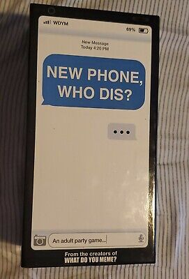 AU19.02 • Buy NEW PHONE, WHO DIS?  Adult Party Game By What Do You Meme?