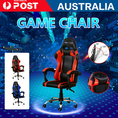 AU79.99 • Buy Adjustable Gaming Office Chair Racing Game Executive Computer PU Leather Seat