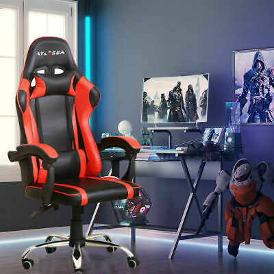 AU78.88 • Buy Adjustable Gaming Office Chair Racing Game Executive Computer Seat PU Leather