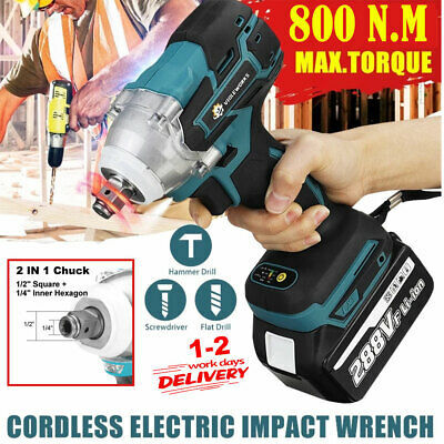 £19.95 • Buy Torque Impact Wrench Brushless Cordless Replacement For Makita DTW285Z 2021