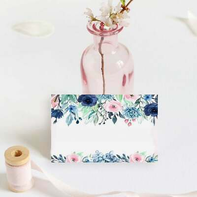 £3.20 • Buy Blush & Navy Placecards Floral Name Cards Rustic Wedding Place Setting